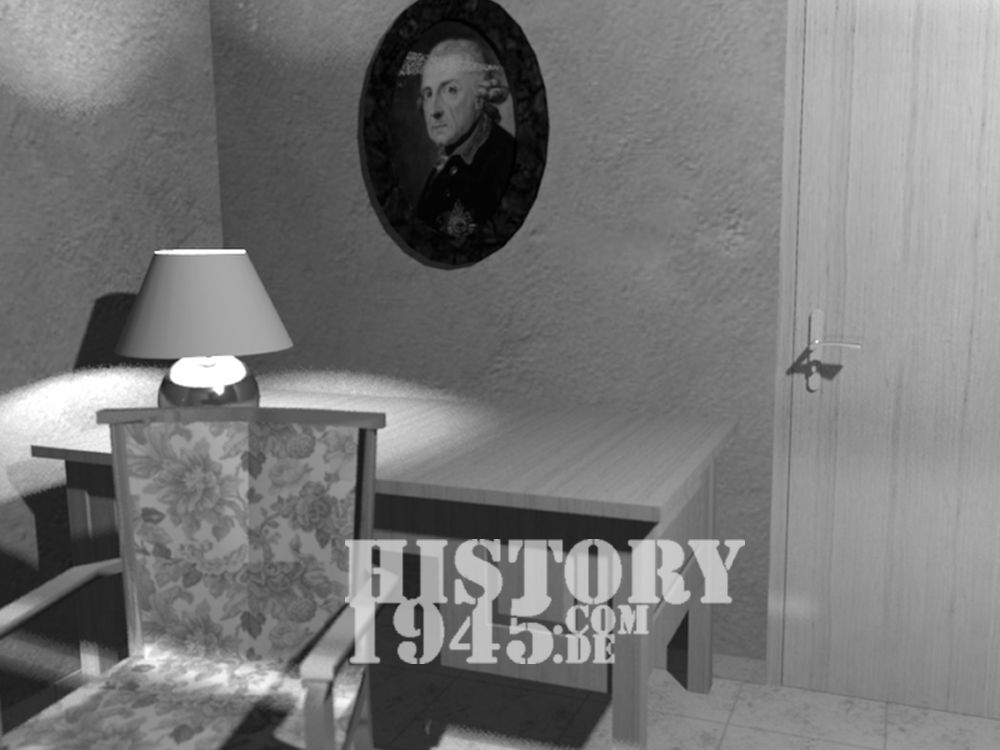 Das Arbeitszimmer Hitlers im Führerbunker
